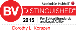 Attorney Dorothy L. Korszen Rated BV® Distinguished™ by Martindale-Hubbell®