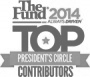 The Fund President's Circle and a Top Contributor award for work in 2014.