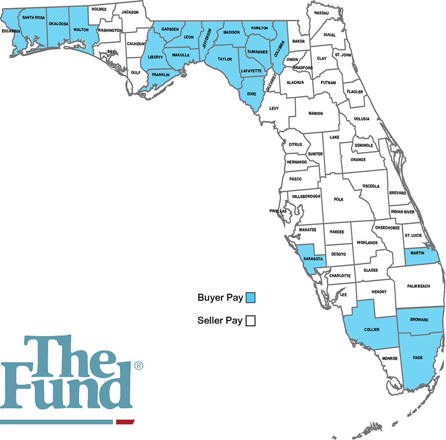 Title Insurance - Florida Counties Map